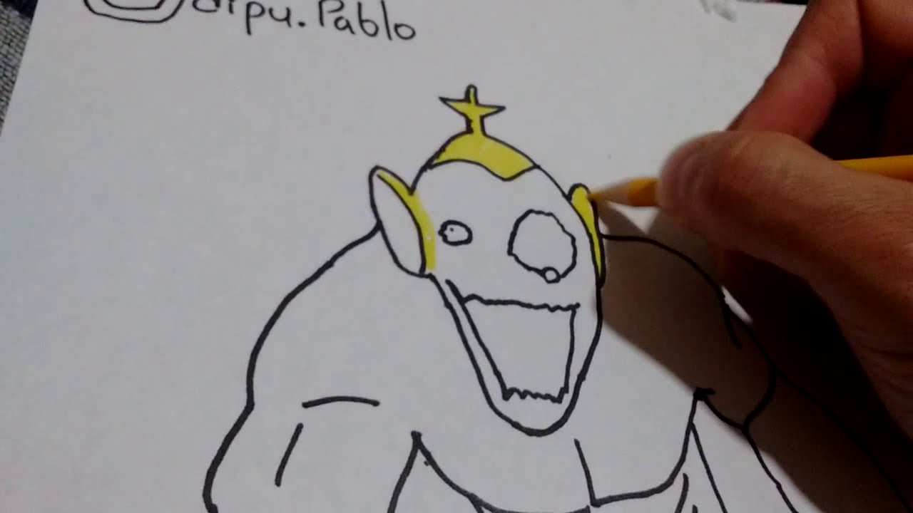 Como Dibujar Al Teletubbie De Las Cuevas Slendytubbies How To Draw Cave Tubbie From Slendytub