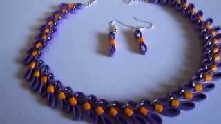 Free Form Jewelry -  Figure 8 Paper Quilling Jewelry (Not Tutorial)