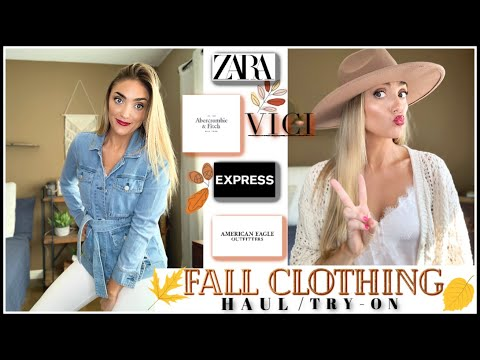 FALL CLOTHING TRY-ON HAUL! ZARA/A&F/ EXPRESS/ AMERICAN EAGLE/ VICI
