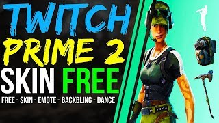 How to Claim Fortnite TWITCH PRIME PACK 2 LOOT Freestylin emote, Skin, Pickaxe,Back Bling