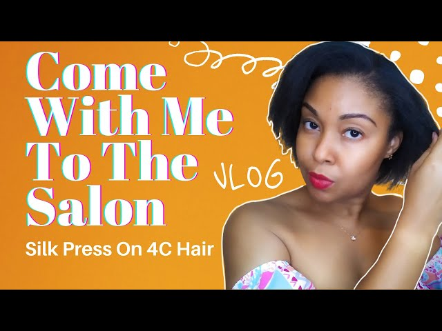 Come To The Salon With Me | Silk Press On 4C Hair | Hair VLOG | VLOG | This Bahamian Gyal