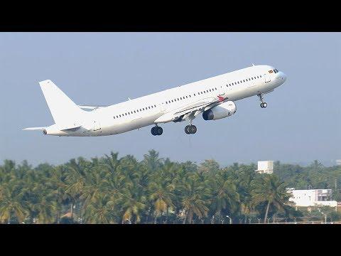 SriLankan A321 (Ex Mihin Lanka), 4R-MRD, departs Madurai for Colombo (4K)