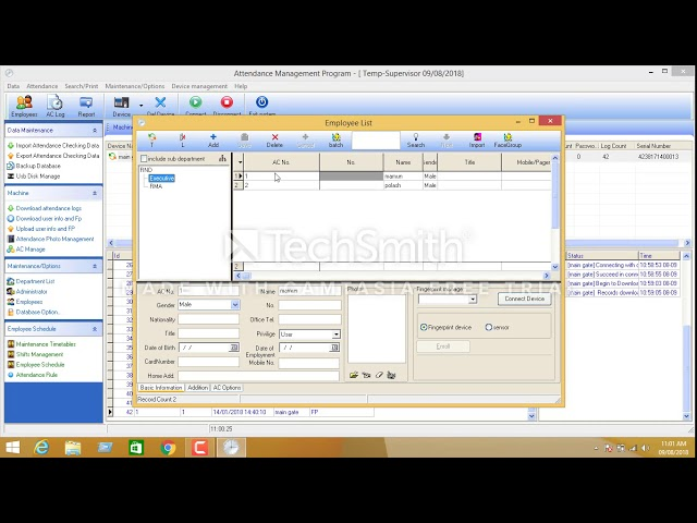 install zk time attendance software