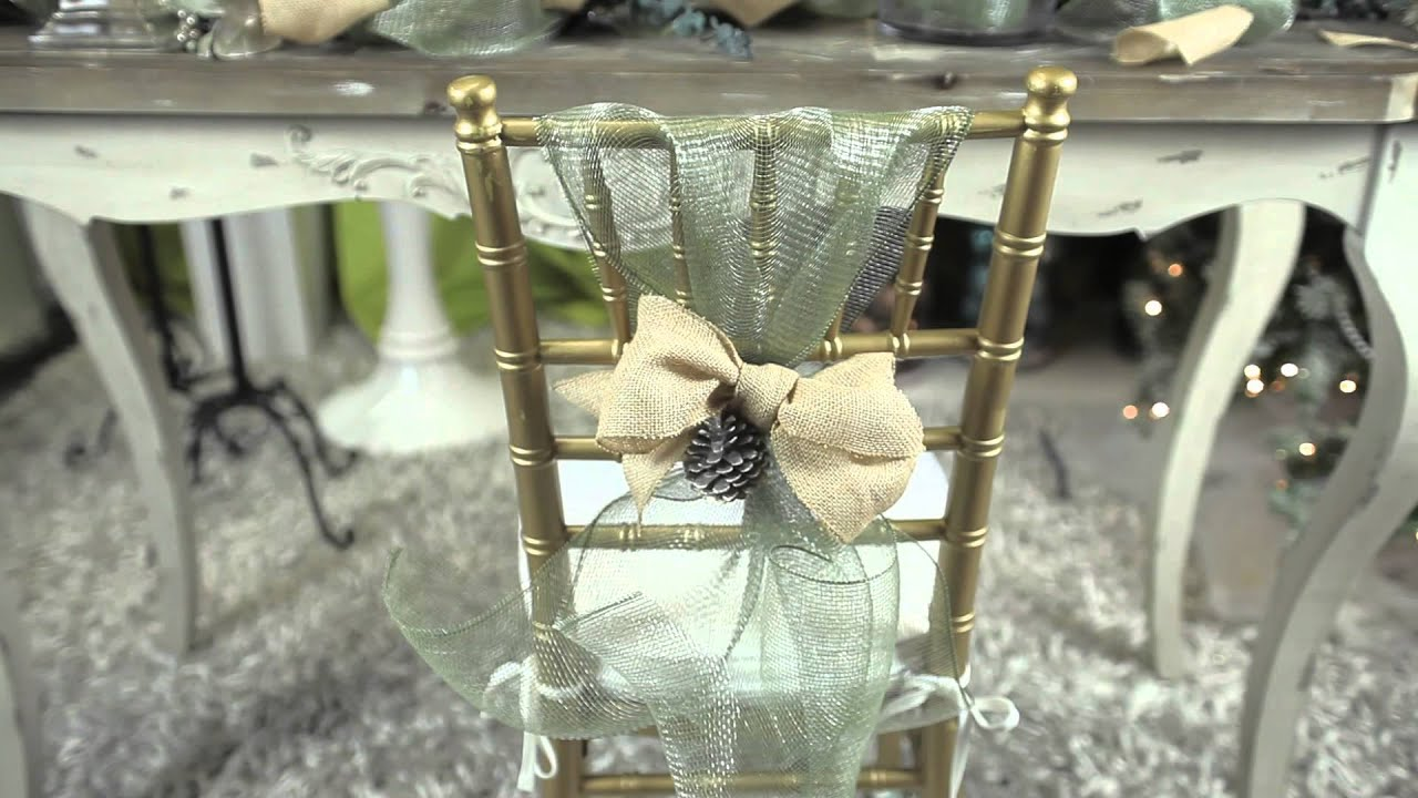 How to Decorate Dining Chairs for Christmas : Modern Christmas Decorating