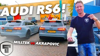 AUDI RS6 AKRAPOVIC & RS6 MILLTEK OP BEZOEK (🙀REV BATTLE🙀) & RS6 TUNEN OVER DE 1000 NM KOPPEL 😮🚀