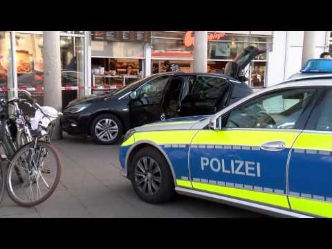 Update: Polizei schießt in Heidelberg bewaffneten Amokfahrer nieder