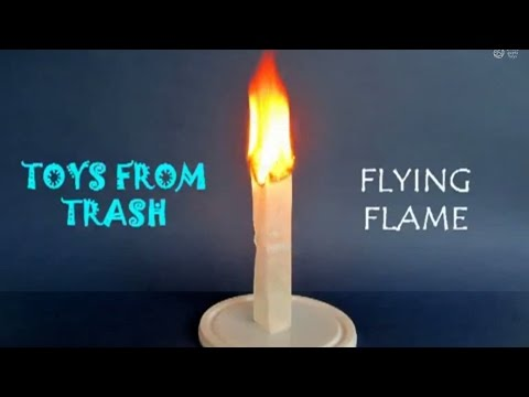Flying flame marathi make a mini hot air balloon youtube for How to make a small air balloon