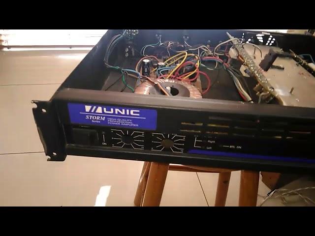 Conserto da saída de  áudio do amplificador unic mod.zx.400