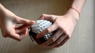 Сова из модулей 3D Оригами