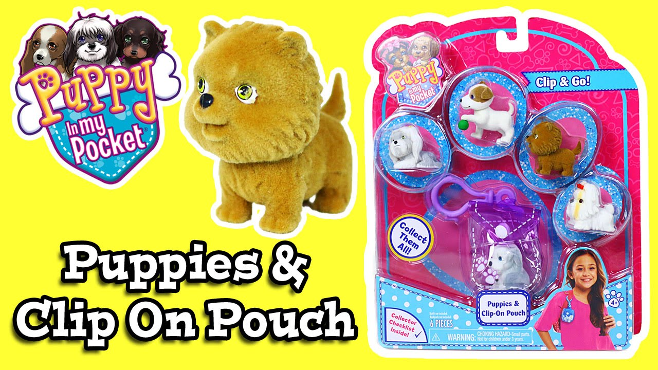 Puppy In My Pocket Puppies Clip On Pouch 2 Youtube