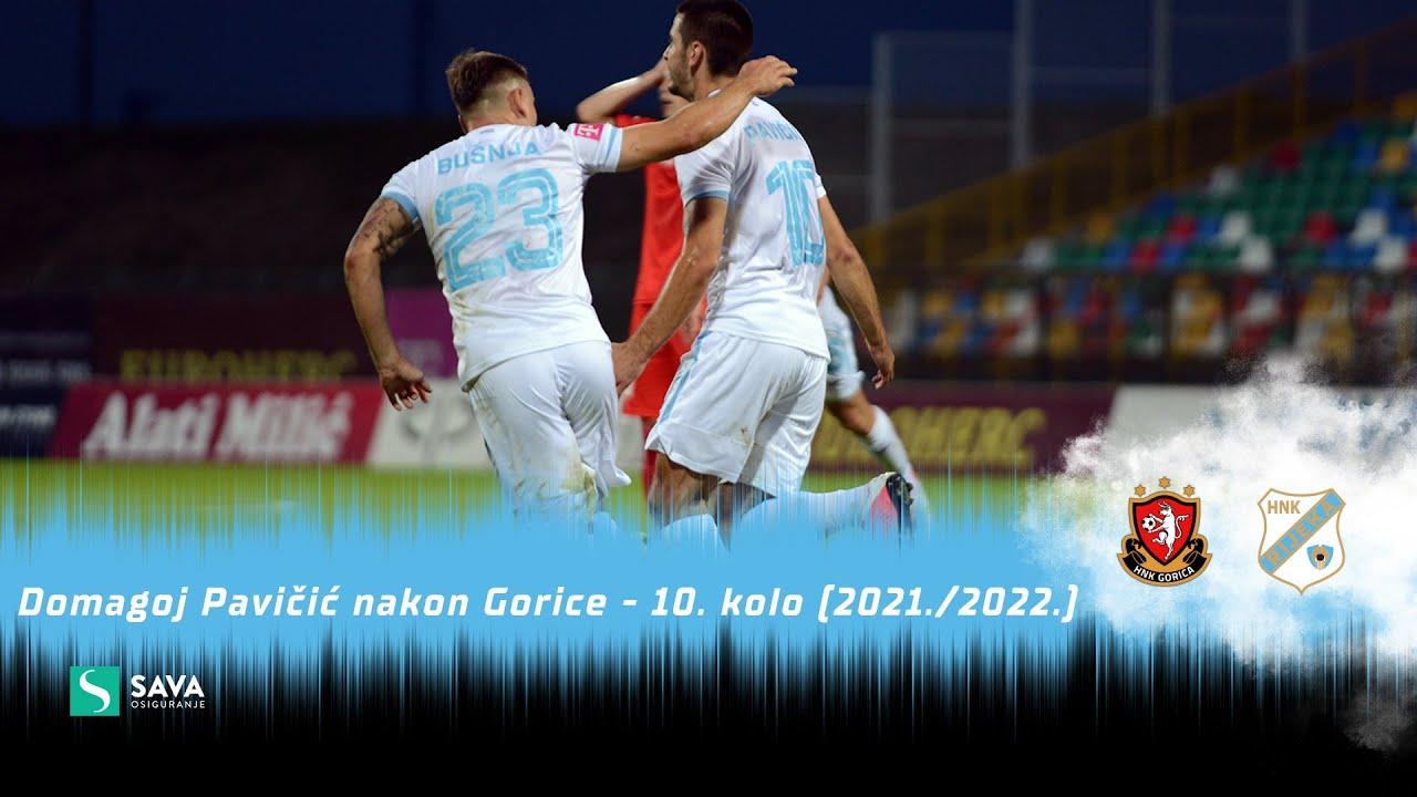 Domagoj Pavičić nakon Gorice - 10. kolo (2021./2022.)