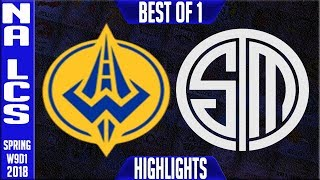 GGS vs TSM Highlights | NA LCS Week 9 Spring 2018 W9D1 | Golden Guardians vs Team Solomid Highlights