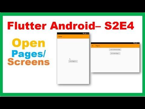 Flutter Widgets → Flutter Navigator and Page/Route Navigation