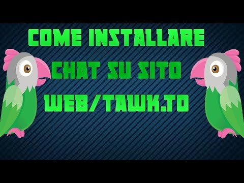 Come installare chat su sito web/tawk.to