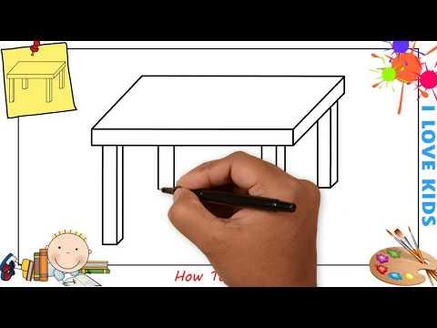 Как нарисовать стол и стул