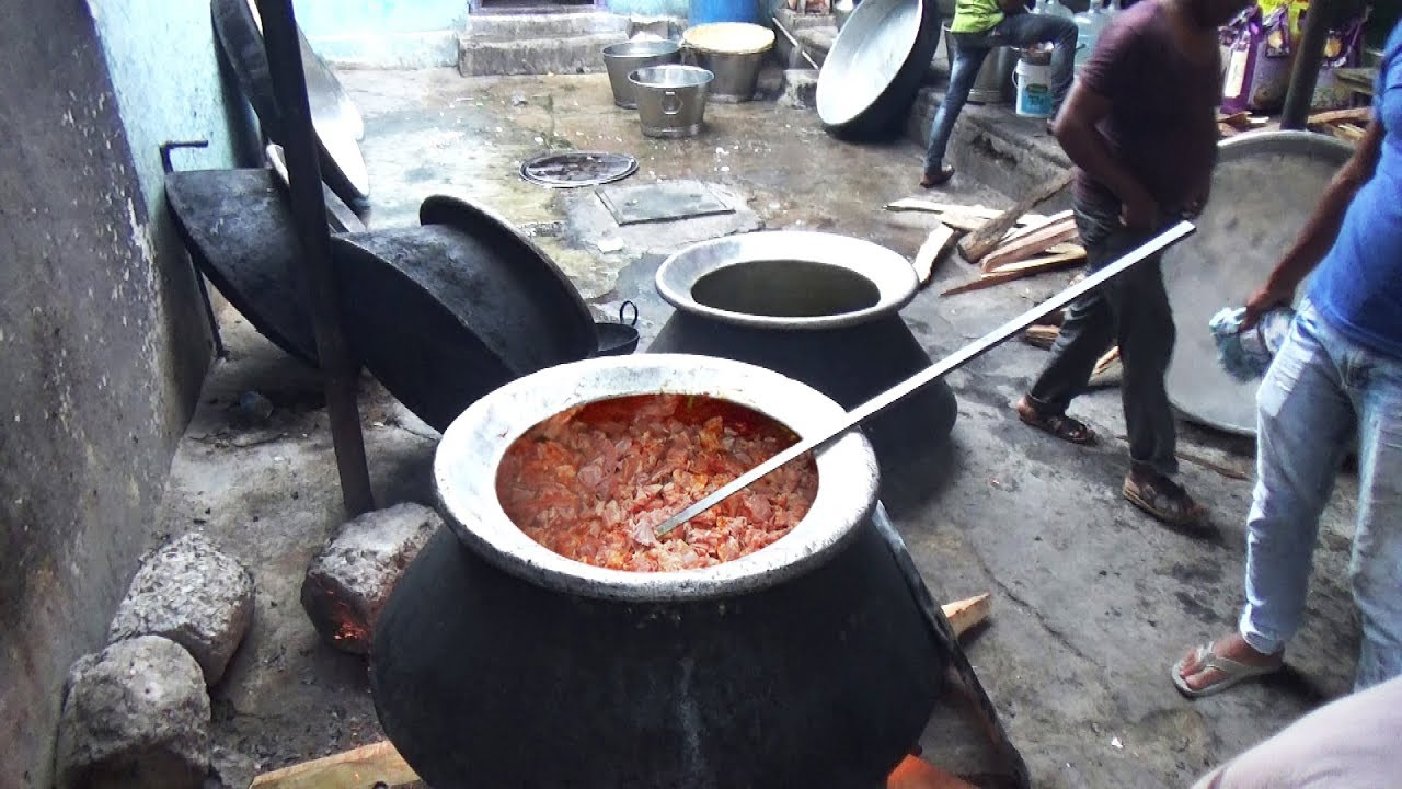 Amazing Food Making Skills | Prepare 500 Peoples Mutton Curry For Birthday Party | Indian StreetFood