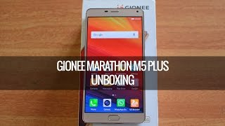 Gionee Marathon M5 Plus Unboxing (Gold)