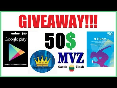 $50 GIVEAWAY GPC Or ITunes Cards With KingSteen Productions Castle Clash