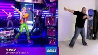 "Dance Central 3 ""OMG"" (Hard) 100% Gold Gameplay"