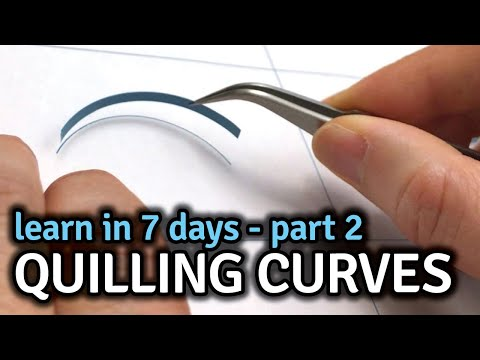 Quilling Curve Challenge - Day 7 - Quilling For Beginners Patterns