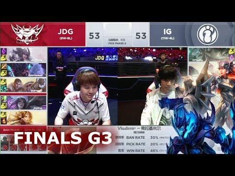 IG vs JDG - Game 3 | Grand Finals S9 LPL Spring 2019 | Invictus Gaming vs JDG Gaming G3