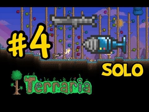 Let's Play Terraria Ep.5-COBALT DRILL AND HARPOON!?!