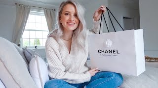cHANEL BAG UNBOXING AND DIOR SKINCARE GRWM  INTHEFROW