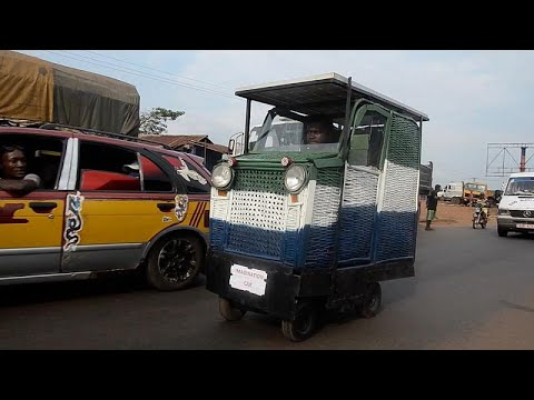 First solar-powered car made out of trash invented in Sierra Leone