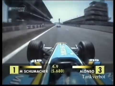F1 2003 Spanish GP Ralf Schumacher vs Fernando Alonso