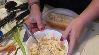 How To Make The Best Tuna Sandwich Ever In A Hot Dog Roll Very Yummy
