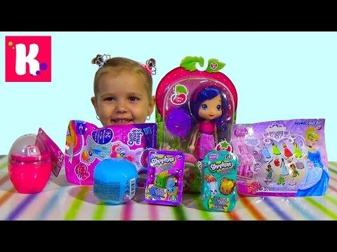 Кукла Шарлотта Земляничка Вишенка сюрпризы Принцессы Диснея игрушками распаковка doll and surprises