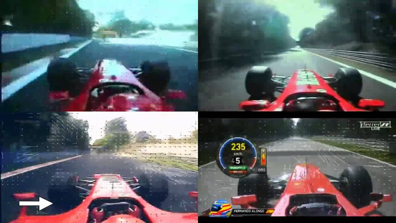 F1 Monza 2000-2003-2006-2012 - YouTube