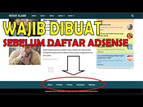 Cara buat About, Contact, Privacy Policy, Disclaimer dan Sitemap Blog.