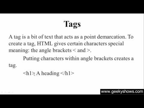 2. Tags and Element in HTML (Hindi)