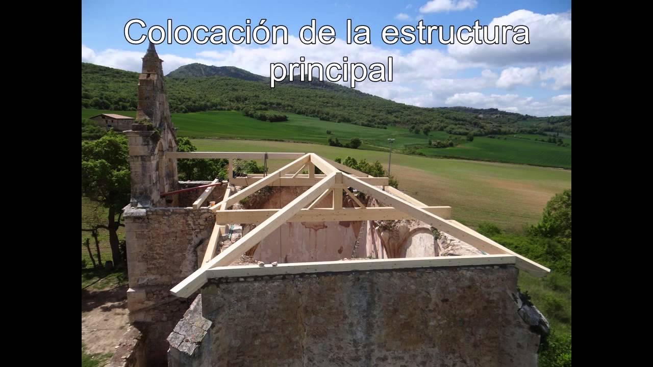 Proceso de construcci n de una cubierta de madera youtube for Como hacer tejados de madera