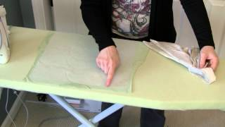 Preparing T-shirts for a T-shirt Quilt