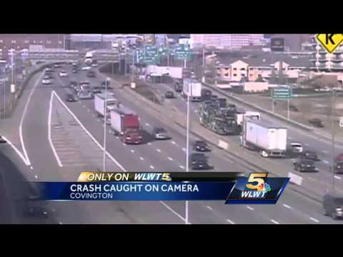 Police release new video of a crash on the Brent Spence Bridge