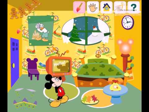 Disney mickey mouse room decoration gameplay video game for Baby room decoration games for girls