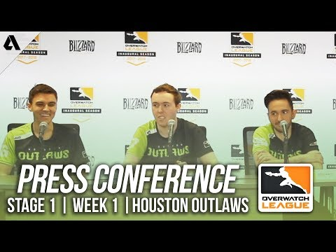 Houston Outlaws Day 2 Press Conference ft Jake Linkzr | Overwatch League OWL Stage 1 Week 1