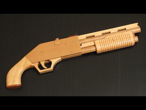 Pump Action Rubber Band Shotgun 5 Plans And Tutorial