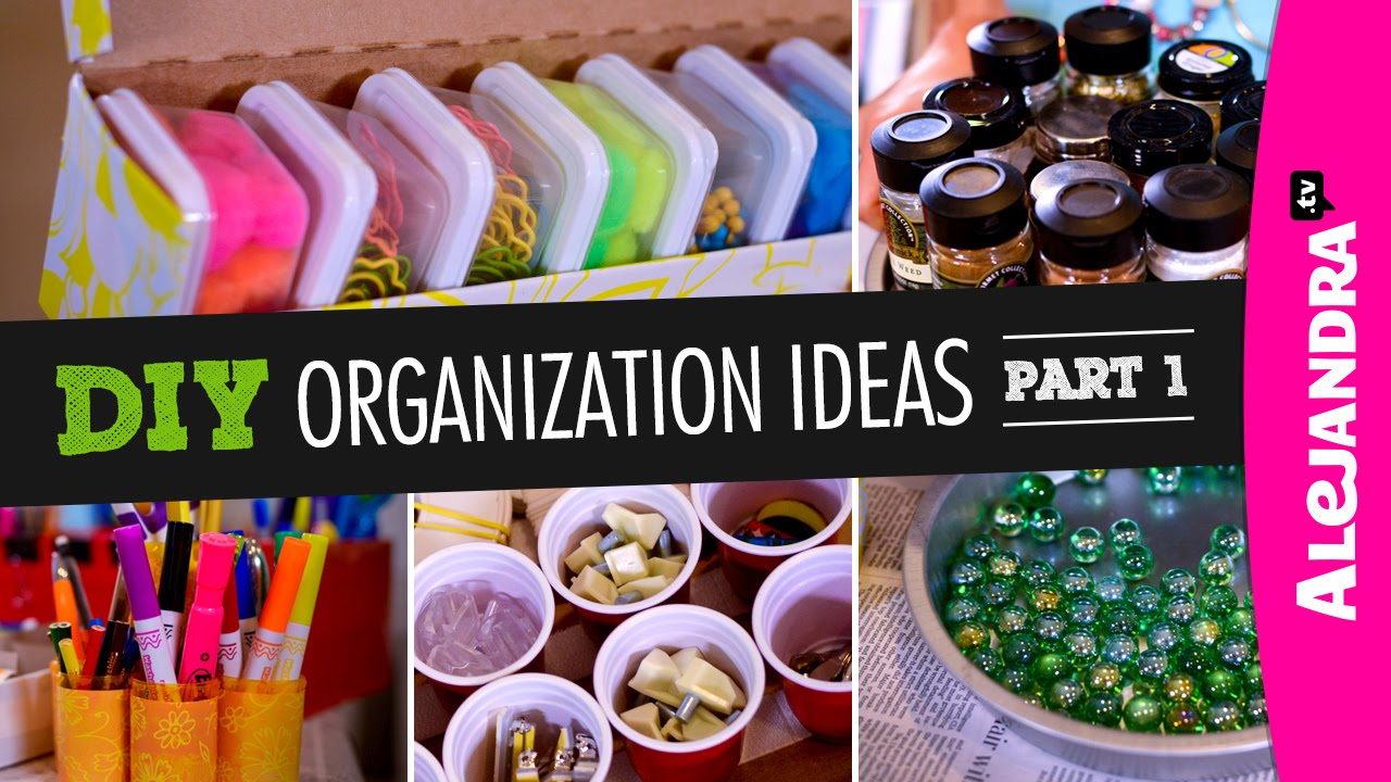 Diy Organization Ideas Part - 33: DIY Organization Ideas (Part 1) - YouTube