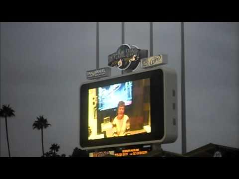 Nancy Bea plaing her organ at Dodger Stadium 9/16/11