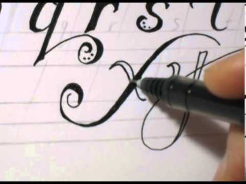 Fancy Cursive Writing - How To Write ABC in Fancy Letters - YouTube