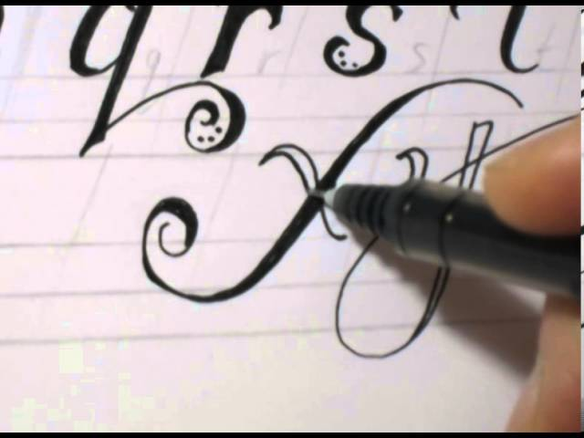 Fancy Cursive Writing - How To Write ABC in Fancy Letters - clipzui - fancy cursive letters
