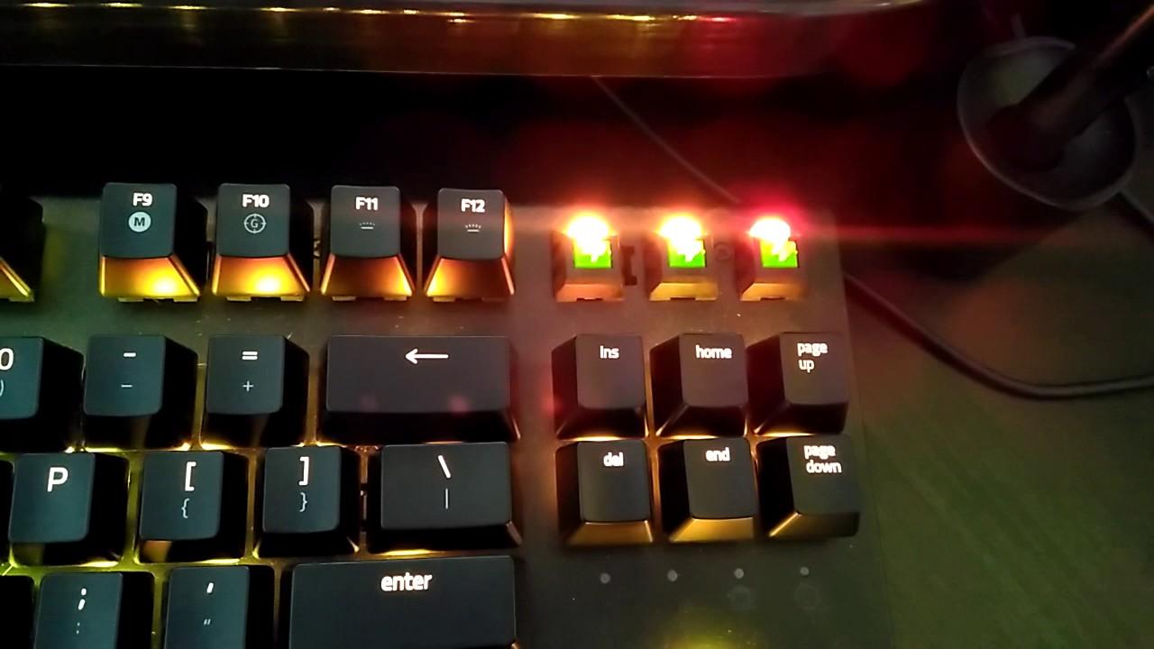 how to change lighting on razer blackwidow ultimate