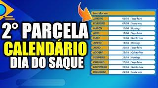 CALENDÁRIO DE SAQUE DA SEGUNDA PARCELA DO AUXILIO EMERGENCIAL 2021