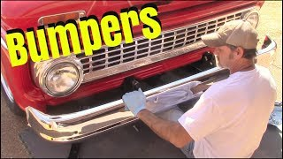 Install rechrome bumpers 1963 Chevrolet C10 truck