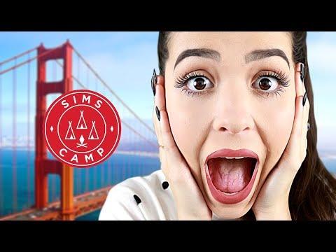 CHEGUEI CALIFÓRNIA! (Vlog - Sims Camp #1)