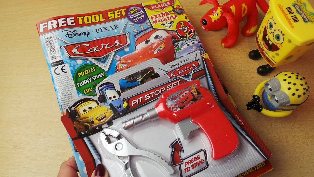 Disney Pixar Cars Film Uk Comic Review Issue 69 With Free Drill And