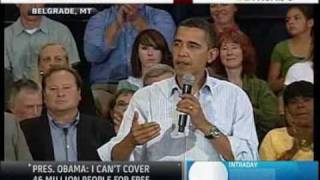 Obama Fields Question from NRA Member